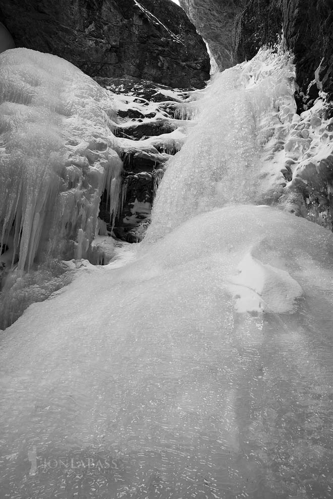 Black & White, Black and White, Colorado, Colorado Rockies, Colorado Rocky Mountains, Frozen Water, Great Sand Dunes, Ice, National Parks, River, Rockies, Rocky Mountains, Sangre de Cristo Mountains, Sangre de Cristo Wilderness, Shadows, Snow, Stream, United States, Waterfall, Winter