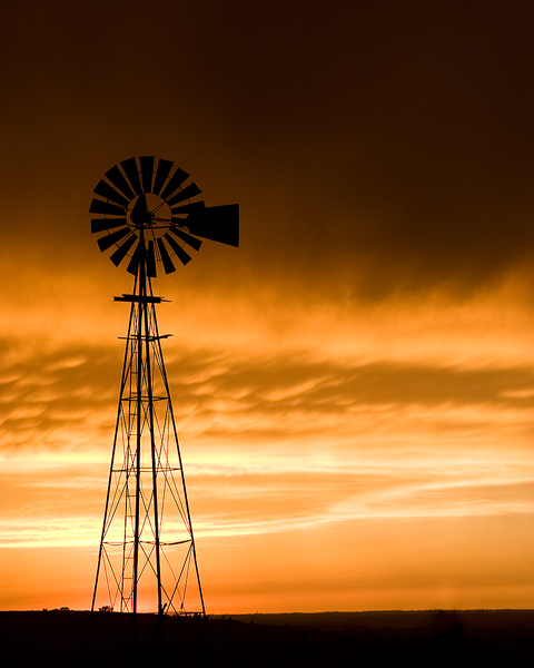 spring, fairbury, nebraska, evening, sunset