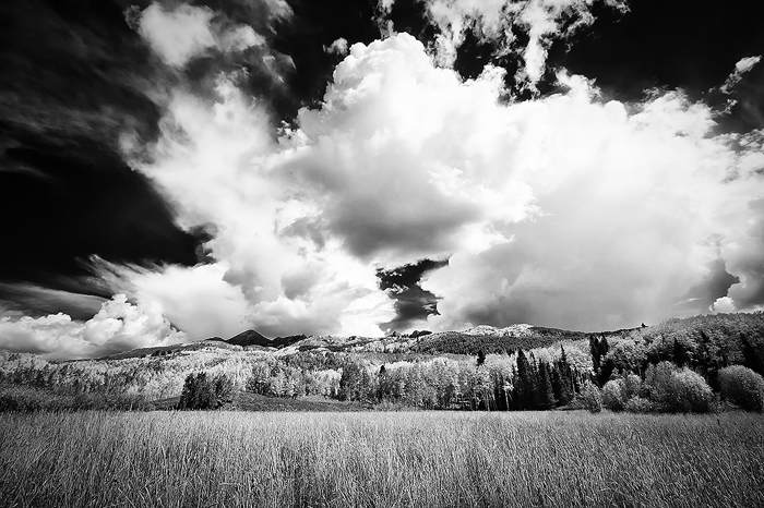 Autumn, Black & White, Black and White, Clouds, Colorado, Fall, Gunnison National Forest, Kebler Pass, Storm, United States
