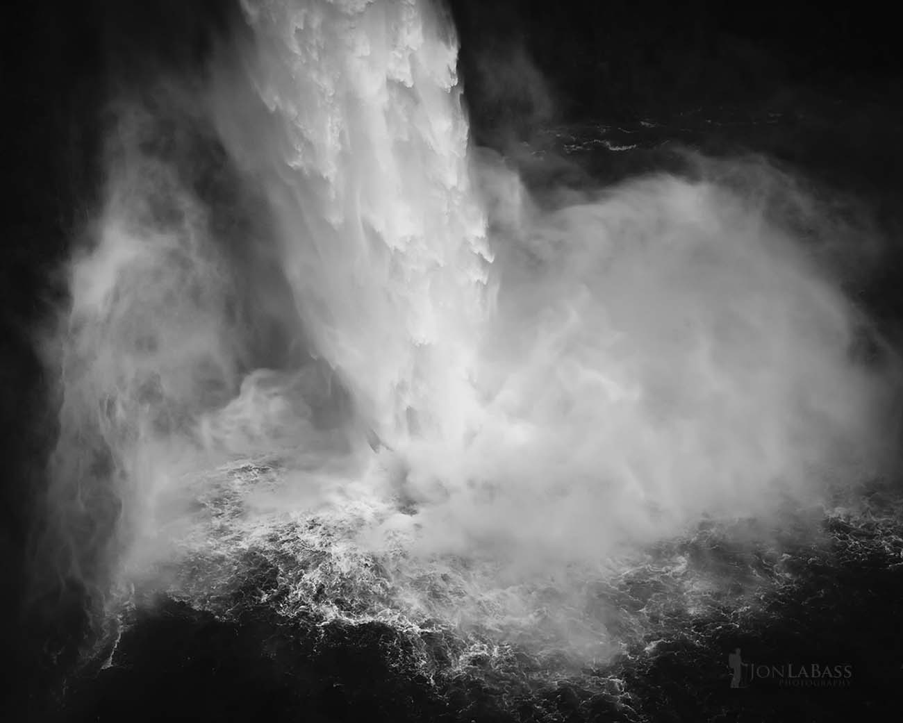 Black & White, Black and White, The Palouse, United States, Washington, Water, Waterfall