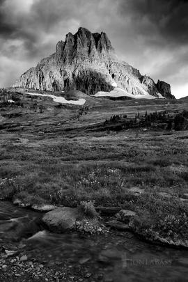 Clements Mountain, Glacier, Montana, Morning, National Parks, Peak, Rockies, Rocky Mountains, Stream, Summer, Sunrise, United States, Water