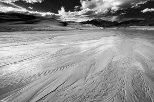 Afternoon, Atmosphere, Black & White, Black and White, Clouds, Colorado, Colorado Rockies, Colorado Rocky Mountains, Creek, Great Sand Dunes, Mountain Peaks, Mountains, National Parks, Rockies, Rocky Mountains, Sand, Sangre de Cristo Mountains, Sangre de Cristo Wilderness, Sky, Stream, Summer, United States, Water